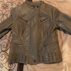 Taupe/Gray color Jacket MEDIUM